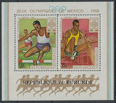 XG-F492 OLYMPIC GAMES - Burundi, 1968 Mexico '68, Athletics MNH Sheet