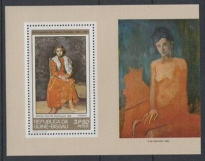 XG-S211 GUINEA-BISSAU - Picasso, 1981 Paintings, Centenary MNH Sheet