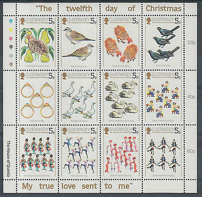 XG-F511 GUERNSEY - Christmas, 1984 Twelve Days, Costumes, Folklore MNH Sheet