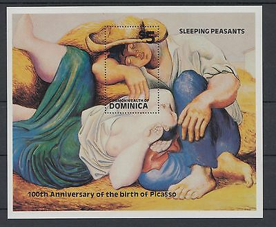 XG-S213 DOMINICA IND - Picasso, 1981 Paintings, Centenary, Nude MNH Sheet