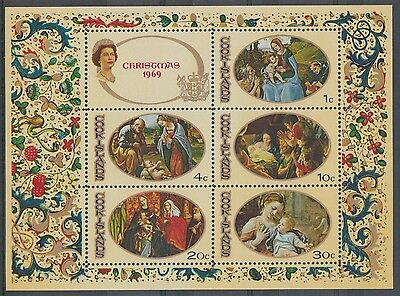 XG-F539 COOK ISLANDS IND - Paintings, 1969 Christmas, Nativity MNH Sheet