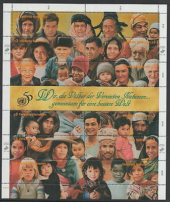 XG-F581 UNITED NATIONS - Mnh, 1995 People From All Countries Sheet