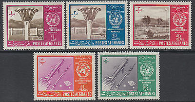 XG-F600 SPACE - Afghanistan, 1963 World Meteorological Day MNH Set