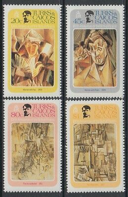 XG-S265 PAINTINGS - Turks & Caicos Ind, 1981 Picasso Centenary MNH Set