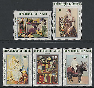 XG-S274 PAINTINGS - Niger, 1981 Picasso Centenary MNH Set