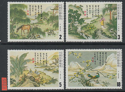 XG-F865 TAIWAN - Paintings, 1984 Classic Chinese Poetry, Landscapes MNH Set