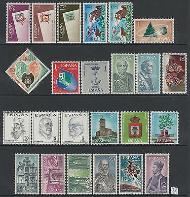 XG-S332 SPAIN - Anniversaries And Events, 1966 24 Values MNH Set