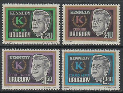 XG-F963 URUGUAY - Kennedy, 1965 4 Values MNH Set