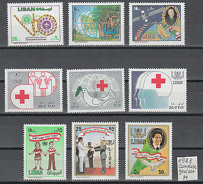 XG-F969 LEBANON IND - Year Set, 1988 Complete As Per Scan...MNH Set