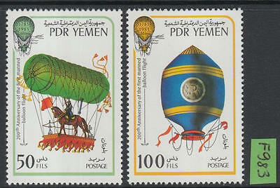 XG-F983 YEMEN - Aviation, 1983 200Th Anniv., Hot Air Balloon MNH Set
