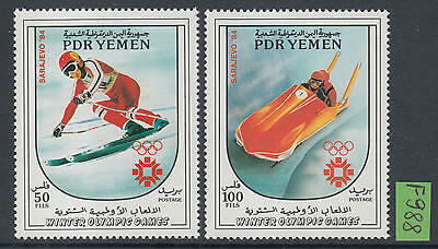 XG-F988 YEMEN - Olympic Games, 1983 Winter, Yugoslavia Sarajevo '84 MNH Set