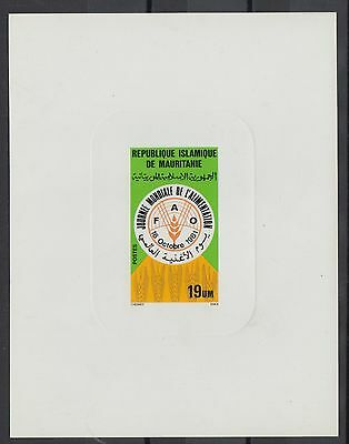 XG-S446 MAURITANIA IND - Sheet, 1981 World Food Day Deluxe Proof MNH