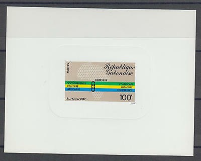 XG-S457 GABON - Sheet, 1983 African Highway Conference Deluxe Proof MNH