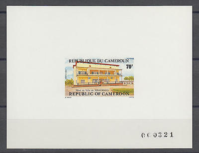 XG-S470 CAMEROON IND - Architecture, 1984 City Halls Deluxe Proof MNH Sheet