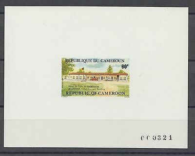 XG-S473 CAMEROON IND - Architecture, 1984 City Halls Deluxe Proof MNH Sheet