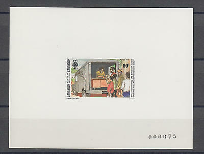 XG-S474 CAMEROON IND - Sheet, 1983 Communications Year Deluxe Proof MNH