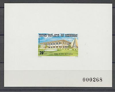 XG-S477 CAMEROON IND - Architecture, 1983 City Halls Deluxe Proof MNH Sheet