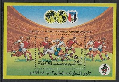XG-S521 YEMEN - Football, 1990 History Of World Championship MNH Sheet