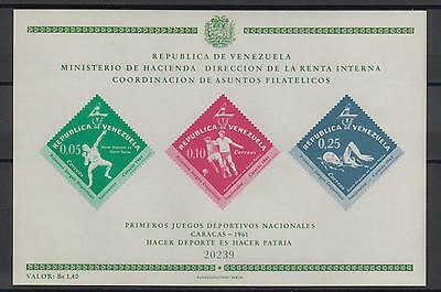 XG-S540 VENEZUELA - Sports, 1962 National Games 1961 MNH Sheet