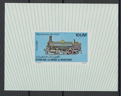 XG-S573 MAURITANIA IND - Trains, 1980 Locomotives, Deluxe Proof MNH Sheet