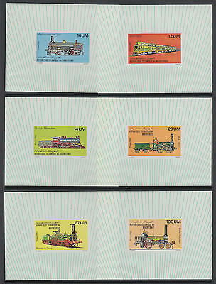 XG-S580 MAURITANIA IND - Trains, 1980 Locomotives, Deluxe Proofs, 6 Sheets MNH
