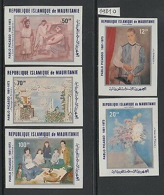 XG-S603 MAURITANIA IND - Paintings, 1981 Picasso, Imperf. MNH Set