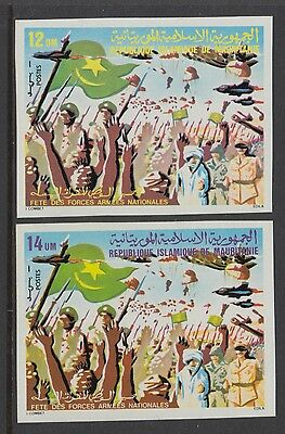 XG-S606 MAURITANIA IND - Army, 1980 Day, Imperf. MNH Set