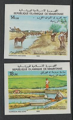 XG-S610 MAURITANIA IND - Agriculture, 1982 Develop. Farm Animals, Imperf MNH Set