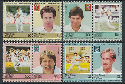 XG-S677 TUVALU - Sports, 1984 Cricket, Leaders Of The World MNH Set
