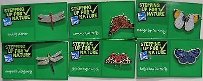 Joblot Of 6 Rspb Stepping Up For Nature Charity Badges Lot 4
