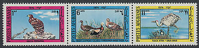 XG-G035 BIRDS - Afghanistan, 1974 Eagles, 3 Values Strip MNH Set
