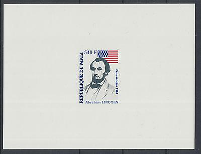 XG-G166 SENEGAL IND - Usa, 1984 Lincoln, Proof MNH Sheet