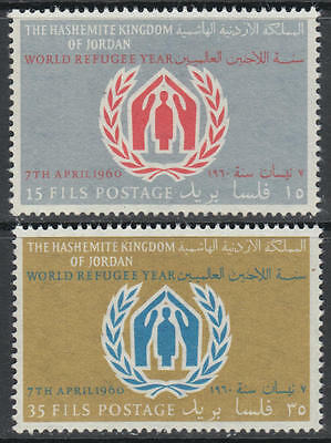 XG-G190 JORDAN - Refugee Year, 1960 2 Values MNH Set