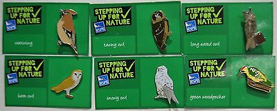 Joblot Of 6 Rspb Stepping Up For Nature Charity Badges Lot 6