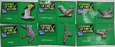 Joblot Of 6 Rspb Stepping Up For Nature Charity Badges Lot 9