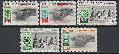XG-G443 DOMINICAN REP. - Refugee Year, 1960 Children Protection 5 Values MNH Set