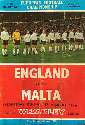 European Championship Qualifier England V Malta May 12Th 1971 Wembley