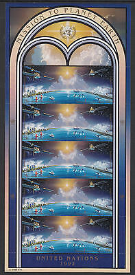 XG-G854 SPACE - United Nations, 1992 New York, Mission Planet Earth MNH Sheet