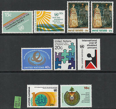 XG-G901 UNITED NATIONS - Year Set, 1981 New York, Complete As Per Scan MNH