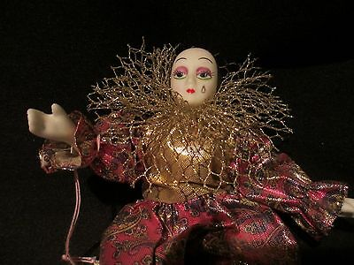 Doll porcelin jester/clown small Show Stoppers Inc. hand painted