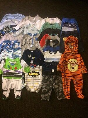 Bulk Lot Baby Boys Size 000 Clothes 30 Pieces In Very Good Condition Pack 2