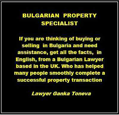 BULGARIAN  PROPERTY LAWYER speaks English with over 10 years experience