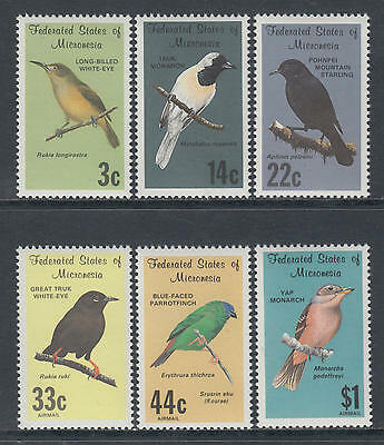 XG-T053 MICRONESIA - Birds, 1988 6 Values MNH Set