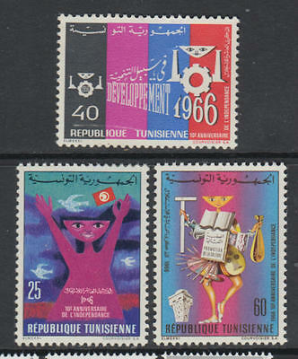 XG-T086 TUNISIA IND - Set, 1966 Independence Anniversary MNH