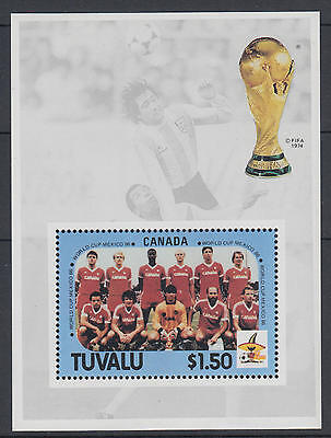 XG-T115 TUVALU - Football, 1986 Mexico '86 World Cup, Canada MNH Sheet