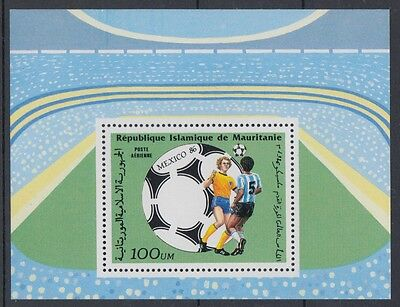 XG-T117 MAURITANIA IND - Football, 1986 Mexico '86 World Cup MNH Sheet