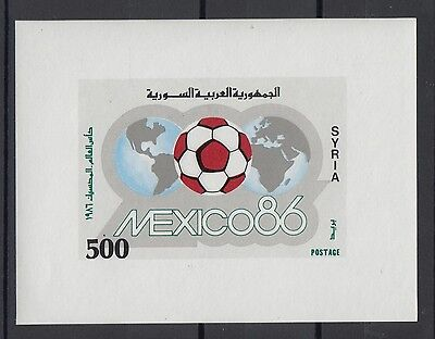 XG-T120 SYRIA IND - Football, 1986 Mexico '86 World Cup Imperf. MNH Sheet