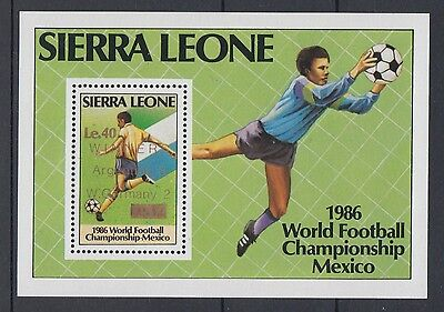 XG-T145 SIERRA LEONE IND - Football, 1986 Mexico World Cup Overprinted MNH Sheet