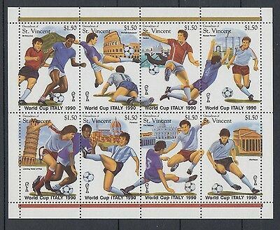 XG-T153 ST VINCENT & GRENADINES IND - Football, 1990 Italy World Cup MNH Sheet