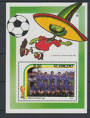 XG-T157 ST VINCENT - Football, 1986 Mexico '86 World Cup MNH Sheet
